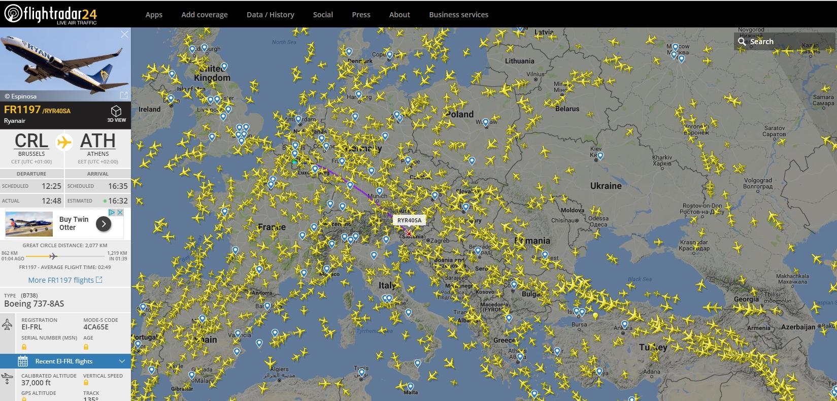 Flightradar24 Web Stranica Gdje Mozete Pratiti Avio Letove Uzivo