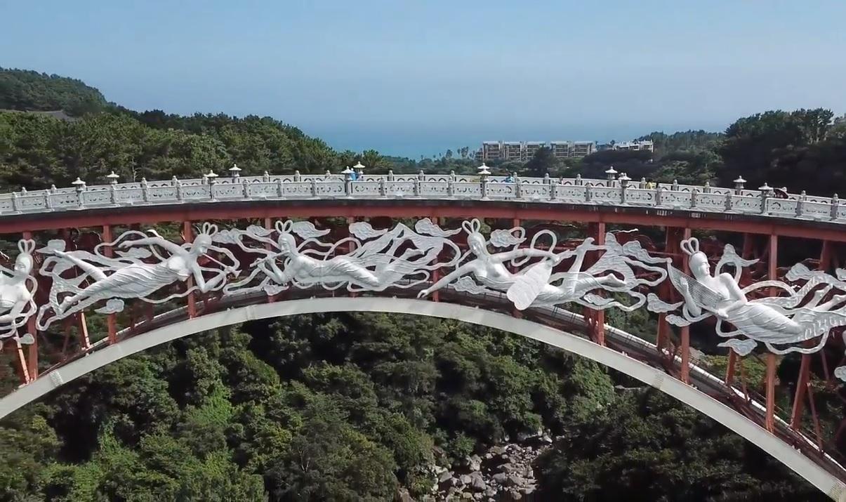 Seonim Bridge & Cheonjeyeon waterfall – DjiMavicPro